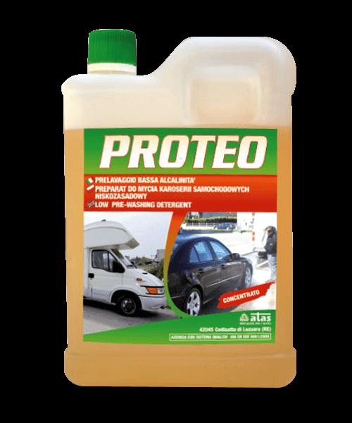 Нискоалкален препарат Atas PROTEO за предизмиване на автомобил, 2 kg.