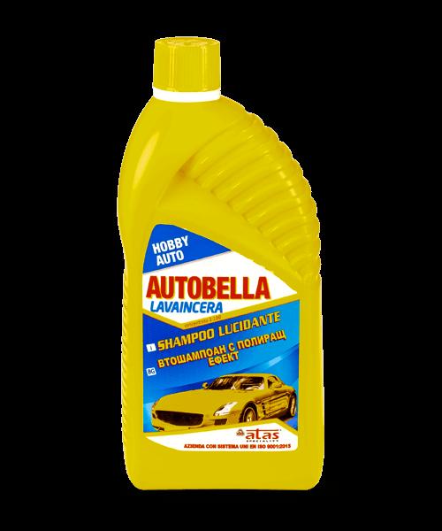 Самоизсъхващ автошампоан Atas AUTOBELLA LAVAINCERA с полиращ ефект, за ръчно измиване на автомобил, 1000 ml.