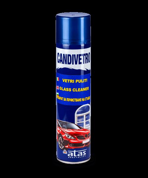 Спрей Atas CANDIVETRO с кремообразна пяна за почистване на стъкла, 400 ml.
