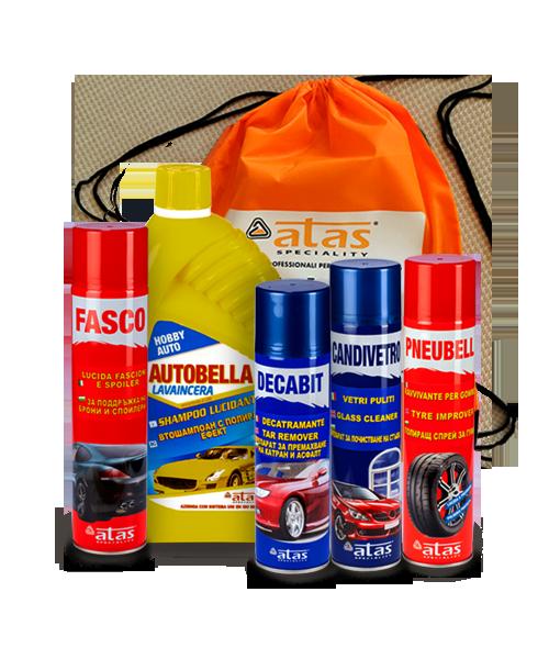 Пакет Atas Екстериор, продукти за почистване екстериора на колата, 5 броя