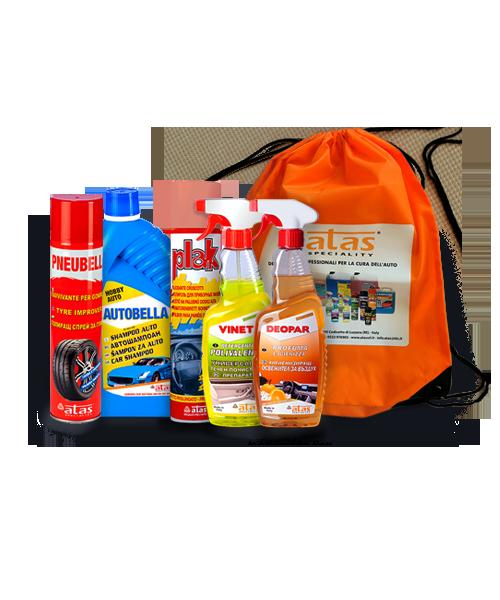 Пакет Atas цялостно почистване, продукти за екстериора и интериора на автомобила, 5 броя