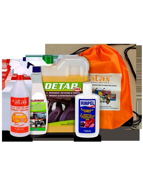 Пакет Atas за почистване у дома на текстил, кожа, готварски плотове, абсорбатори и др., 4 продукта